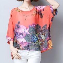 Fashion Street - 3/4-Sleeve Printed T-Shirt