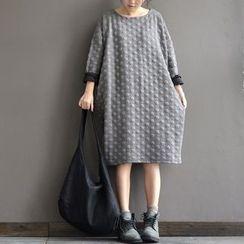 Rosadame - 長袖圓點連衣中裙