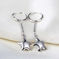Zundiao - Sterling Silver Star Earrings