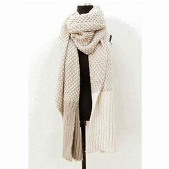 Cuteberry - 網狀格子雙面圍巾