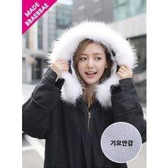 BBAEBBAE - Faux-Fur Trim Hooded Padded Coat
