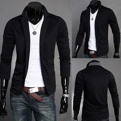 Fireon - Mandarin Collar Buttoned Jacket