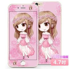 Kindtoy - 女孩印花 iPhone  6  /  6s  /  6  Plus  保護膜  (前後)