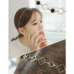 soo n soo - Rhinestone Shape Patterned Hair Band (3 Designs)