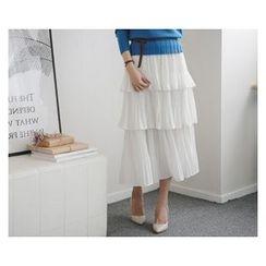 demavie - Layered Maxi Skirt