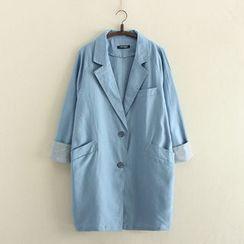 Aigan - 平驳领饰口外套