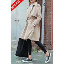 MICHYEORA - Epaulet Trench Coat with Sash