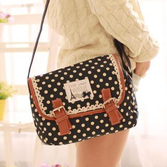 Canvas Love - Polka Dot Canvas Cross Bag