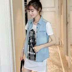 Colorful Shop - Denim Vest