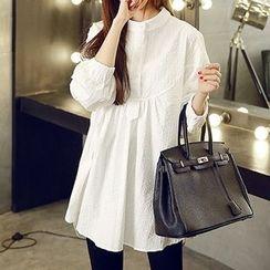 Kasan - Maternity Half Placket Long Sleeve Tunic