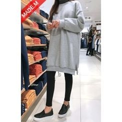 MICHYEORA - Brushed-Fleece Lined Pullover Dress