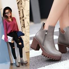 佳美 - 粗跟及踝靴