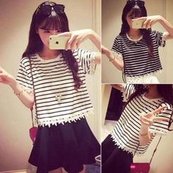 QZ Lady - Short-Sleeve Striped T-Shirt