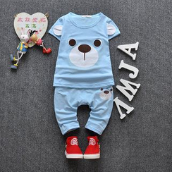 POMME - Kids Set: Bear Short-Sleeve T-Shirt + Pants