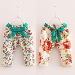 Seashells Kids - Kids Floral Capri Pants