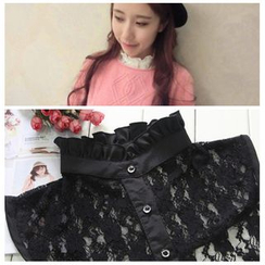 Debii - Ruffled Lace Decorative Collar