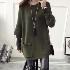 Qimi - 假两件长毛衣