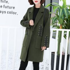 Lavogo - Lace Up Knit Coat