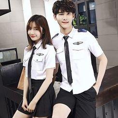 尚雅姿 - 情侣款飞行员短袖衬衫