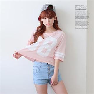 Cocopop - Number Print Boxy T-Shirt