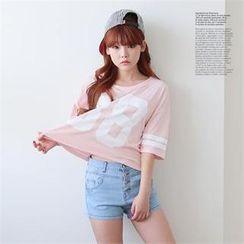DL jini - Number Print Boxy T-Shirt