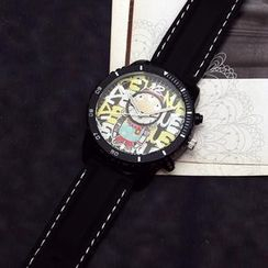Tacka Watches - Cartoon Print Strap Watch