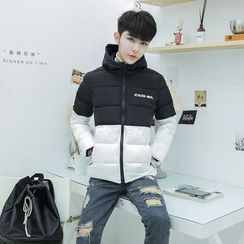 Harvin - Two-Tone Hooded Padded Jacket