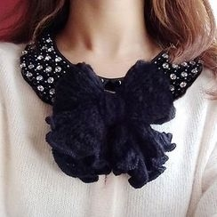 Verdant - 蝴蝶结针织发夹