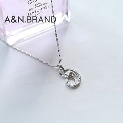 AINIAN - 925 Sterling Silver Rhinestone Necklace