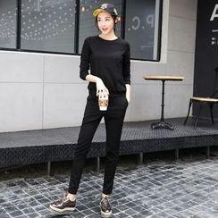 NINETTE - Set: Long-Sleeve Top + Sweatpants