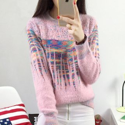 AiSun - Patterned Knit Top