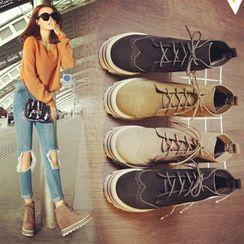 Laceuplux - 內增高短靴