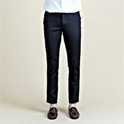 THE COVER - Straight-Cut Dress Pants
