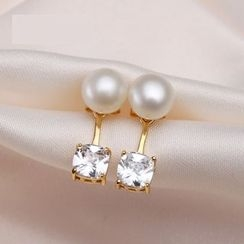 ViVi Pearl - 锆石淡水珍珠耳钉