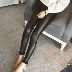Fancy Show - Faux-Leather Leggings
