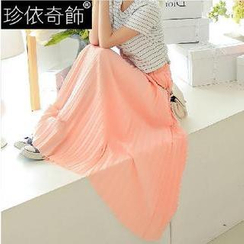 Jenny's Couture - Accordion Pleat Maxi Skirt