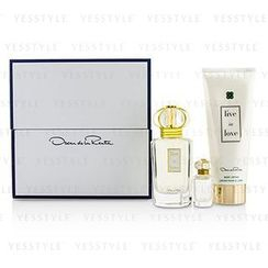 Oscar De La Renta - Live In Love Coffret: Eau De Parfum Spray 50ml/1.7oz + Eau De Parfum Miniature 4ml/0.13oz + Body Lotion 100ml/3.4oz