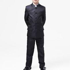 Willow Tree - 兒童套裝: 中式上衣 + 長褲