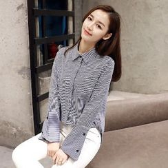 Romantica - Long-Sleeve Striped Blouse