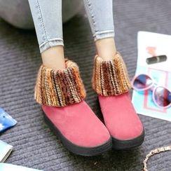 Pastel Pairs - Panel Snow Boots