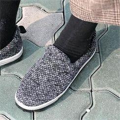 CHICFOX - Tweed Platform Slip-Ons