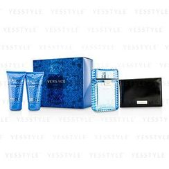 Versace 范思哲 - Eau Fraiche Coffret: Eau De Toilette Spray 100ml/3.4oz + After Shave Balm 50ml/1.7oz + Bath and Shower Gel 50ml/1.7oz + Black Wallet