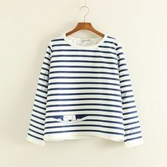 Mushi - Striped Long Sleeve T-Shirt
