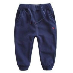 DEARIE - Kids Dog Embroidered Sweatpants