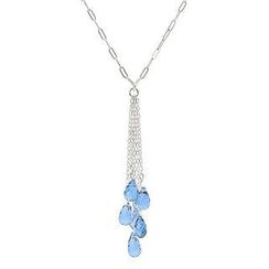Keleo - Silver, Blue Topaz Necklace