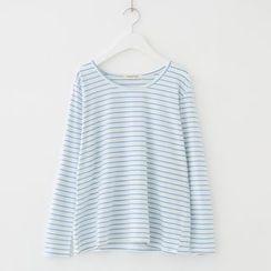 Meimei - Striped Long Sleeve T-Shirt