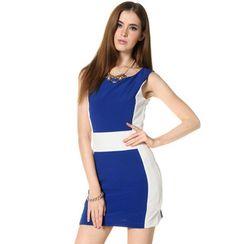 59 Seconds - Color-Block Sleeveless Dress