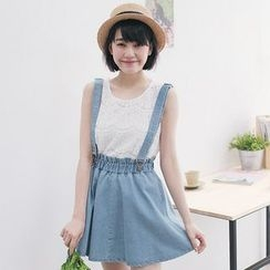 Tokyo Fashion - A-Line Denim Jumper Skirt