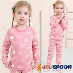 JELISPOON - Kids Pajama Set: Pattern Top + Pants
