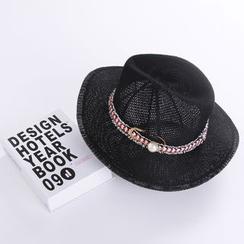 Reyna - Pearl Fedora Hat